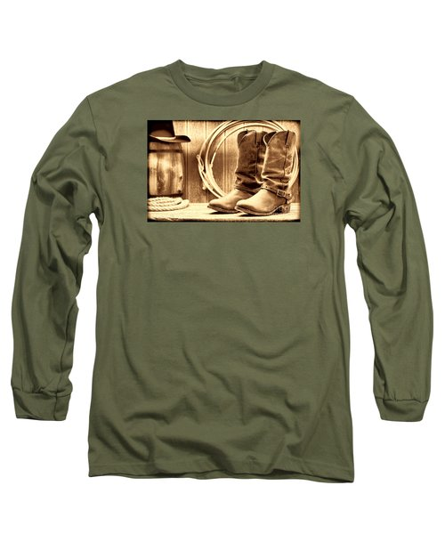 Cowboy Boots On The Deck Long Sleeve T-Shirt