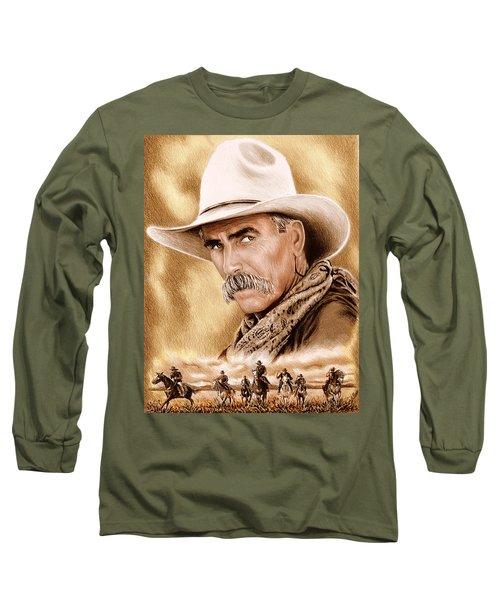 Cowboy Sepia Edit Long Sleeve T-Shirt