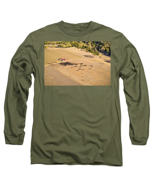 Cows And Trucks Long Sleeve T-Shirt