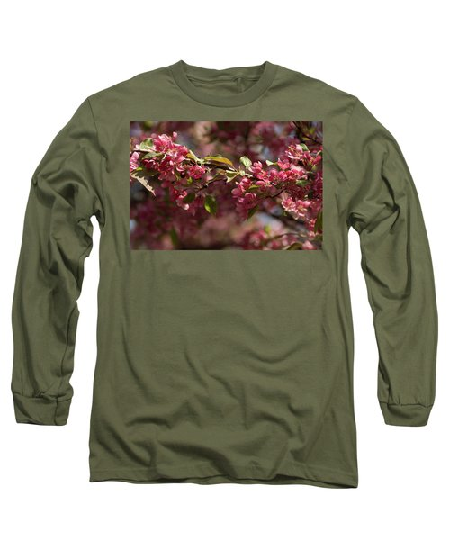 Crabapple In Spring Section 3 Of 4 Long Sleeve T-Shirt
