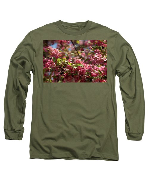 Crabapple In Spring Section 4 Of 4 Long Sleeve T-Shirt