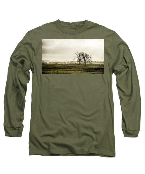 Long Sleeve T-Shirt featuring the photograph Crane Hill by Torbjorn Swenelius