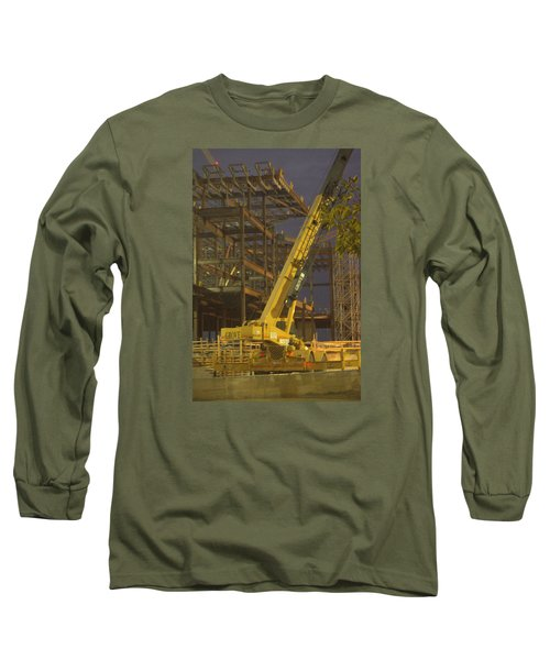 Craning And Working Long Sleeve T-Shirt