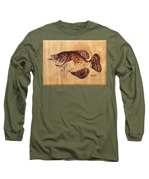 Crappie Long Sleeve T-Shirt by Ron Haist