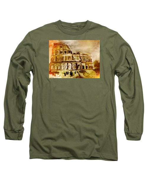Crazy Colosseum Long Sleeve T-Shirt by Denise Tomasura
