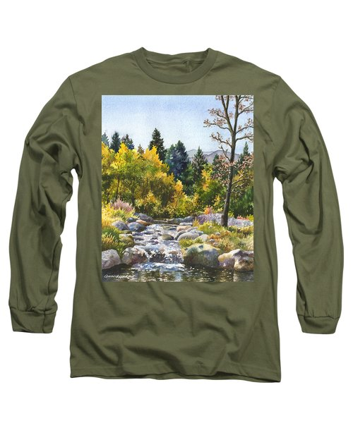Creek At Caribou Ranch Long Sleeve T-Shirt by Anne Gifford