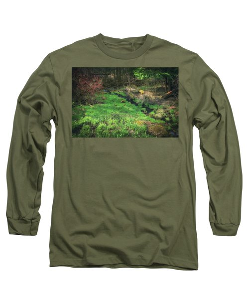 Creek - Spring At Retzer Nature Center Long Sleeve T-Shirt by Jennifer Rondinelli Reilly - Fine Art Photography