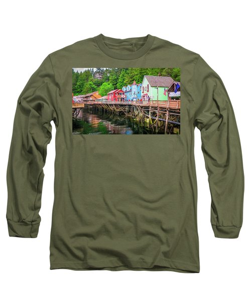 Creek Street Ketchikan Alaska Long Sleeve T-Shirt