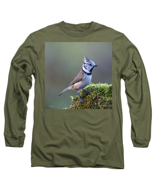 Crested Tit Long Sleeve T-Shirt by Torbjorn Swenelius