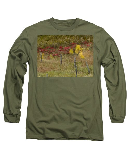 Crimson And Gold Long Sleeve T-Shirt by Tara Lynn