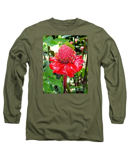 Crimson Bloom Long Sleeve T-Shirt