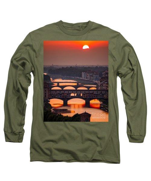 Crimson River Long Sleeve T-Shirt by Giuseppe Torre