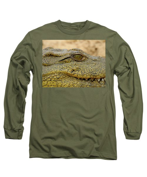 Long Sleeve T-Shirt featuring the photograph Croc by Betty-Anne McDonald