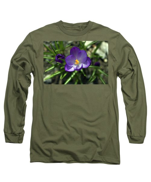 Long Sleeve T-Shirt featuring the photograph Crocus In Bloom #1 by Jeff Severson