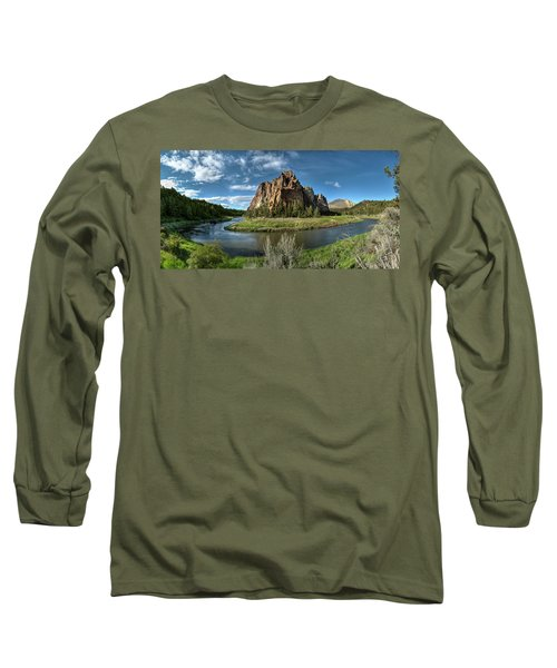 Crooked River And Smith Rock Long Sleeve T-Shirt