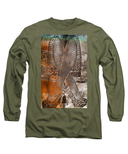 Cross Walk Long Sleeve T-Shirt by Greg Sharpe