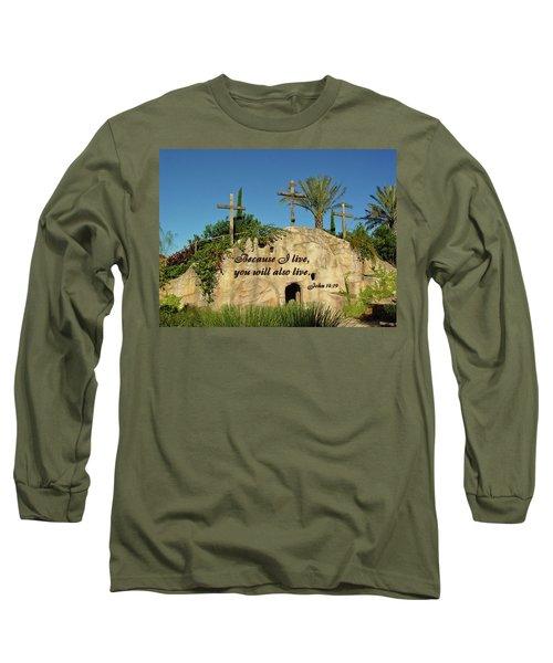 Crosses And Resurrection Long Sleeve T-Shirt