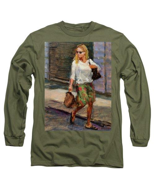 Crossing Adams Street Long Sleeve T-Shirt