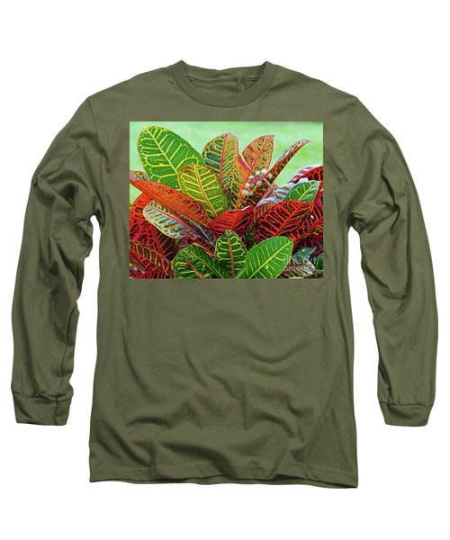 Colorful Croton Bloom Long Sleeve T-Shirt