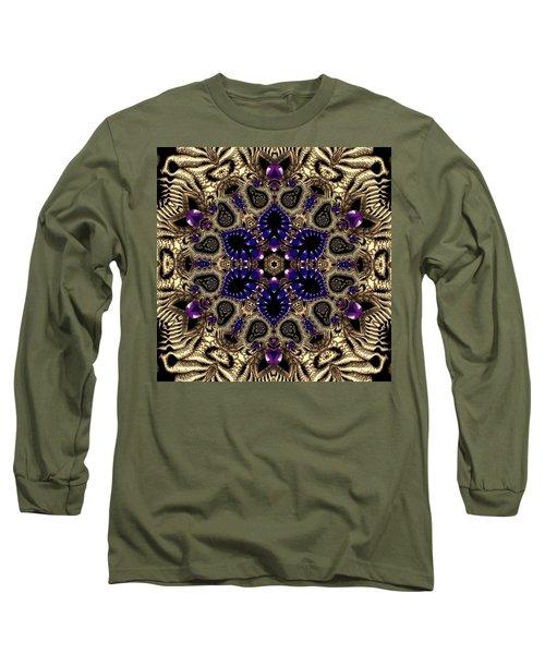 Long Sleeve T-Shirt featuring the digital art Crystal 61345 by Robert Thalmeier