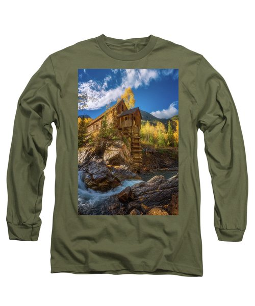 Crystal Mill Morning Long Sleeve T-Shirt by Darren White