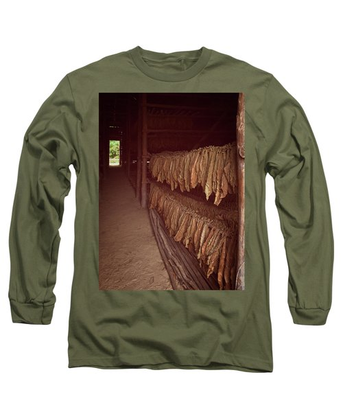 Long Sleeve T-Shirt featuring the photograph Cuban Tobacco Shed by Joan Carroll