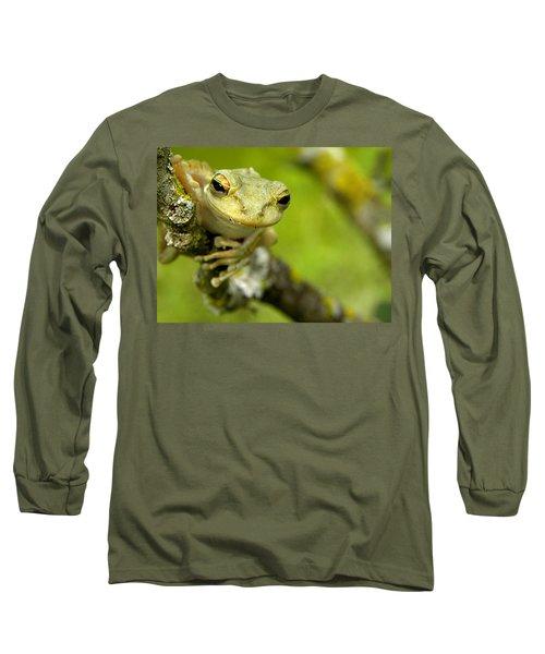 Cuban Tree Frog 000 Long Sleeve T-Shirt by Chris Mercer