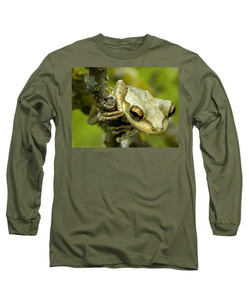 Cuban Tree Frog  Long Sleeve T-Shirt by Chris Mercer
