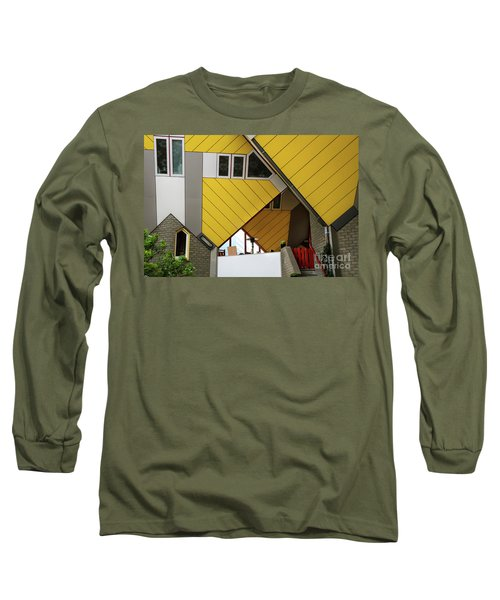 Long Sleeve T-Shirt featuring the photograph Cube Houses Detail In Rotterdam by RicardMN Photography