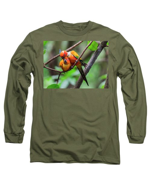 Cuddling Parrots Long Sleeve T-Shirt