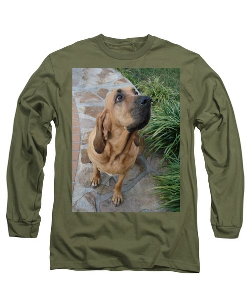 Cujo Looking At A Butterfly Long Sleeve T-Shirt by Val Oconnor
