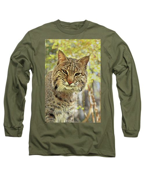 Long Sleeve T-Shirt featuring the photograph Curiosity The Bobcat by Jessica Brawley
