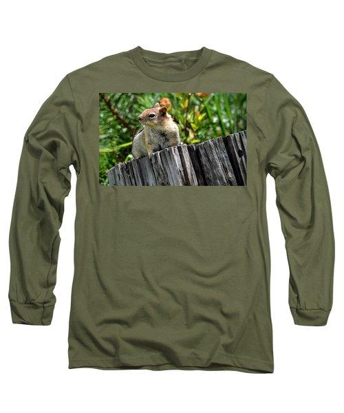 Curious Chipmunk Long Sleeve T-Shirt