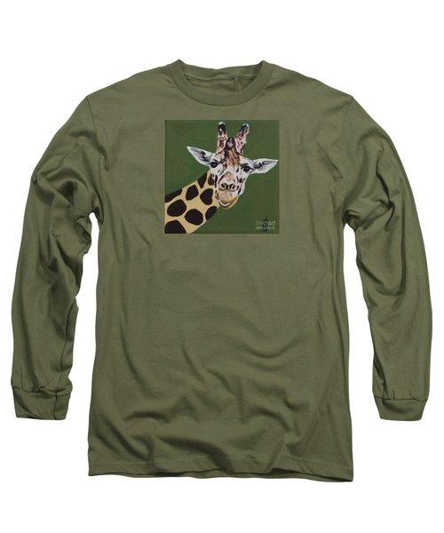 Curious Giraffe Long Sleeve T-Shirt