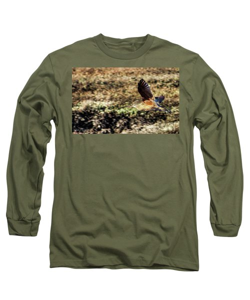 Curlew In Flight Long Sleeve T-Shirt