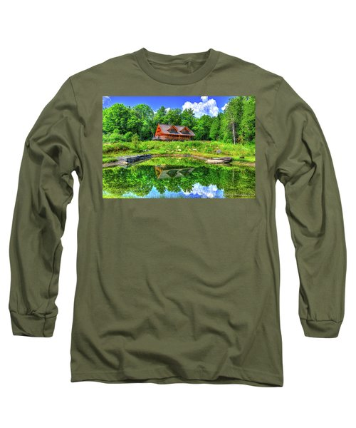 Curtis Vance Memorial Apple Orchard Long Sleeve T-Shirt by Jim Boardman