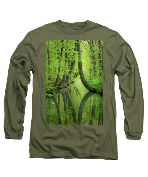 Curved Trees Long Sleeve T-Shirt