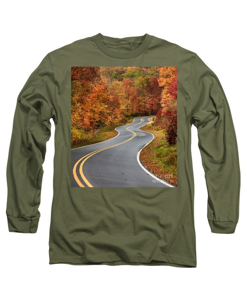 Curvy Road In The Mountains Long Sleeve T-Shirt