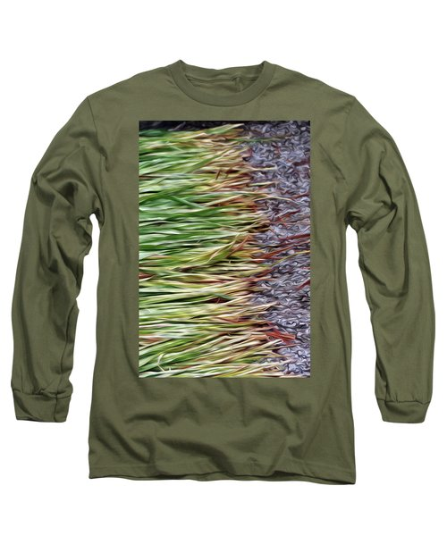 Cut Grass And Pebbles Long Sleeve T-Shirt