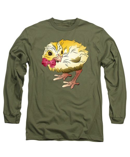 Cute Chick Long Sleeve T-Shirt by MM Anderson