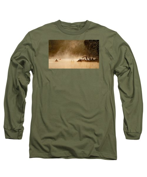 Cutting Through The Mist Long Sleeve T-Shirt by Robert Charity