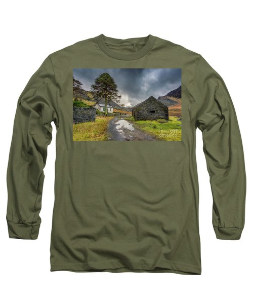 Long Sleeve T-Shirt featuring the photograph Cwmorthin Slate Ruins by Adrian Evans