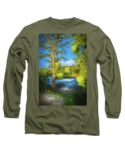 Cypress Tree By The River Long Sleeve T-Shirt