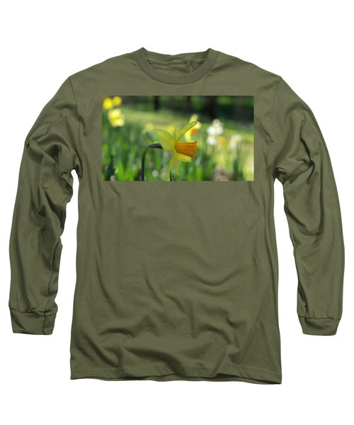 Daffodil Side Profile Long Sleeve T-Shirt