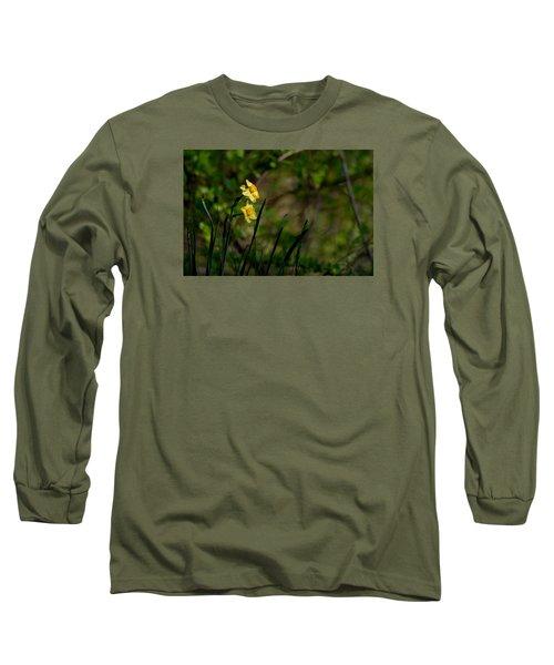 Daffodils Among The Green Long Sleeve T-Shirt