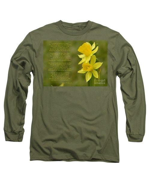 Daffodils Poem By William Wordsworth Long Sleeve T-Shirt
