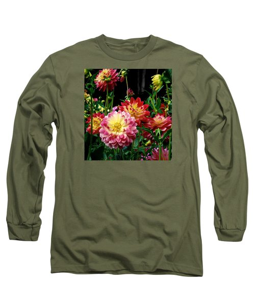 Dahlia Garden Time  Long Sleeve T-Shirt