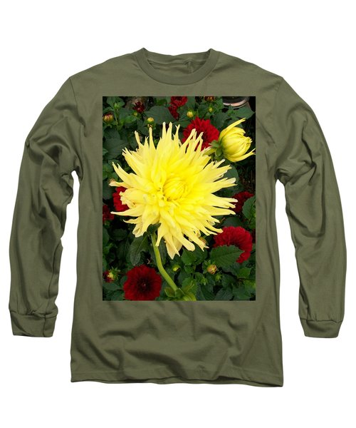 Dahlia's Long Sleeve T-Shirt by Sharon Duguay