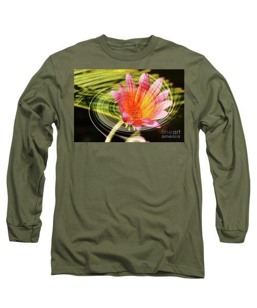 Daisy Swirl Long Sleeve T-Shirt by Debby Pueschel