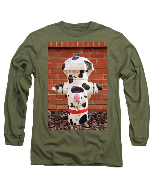 Long Sleeve T-Shirt featuring the photograph Dalmation Hydrant by James Eddy